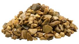 Golden flint gravel quarried in the UK.